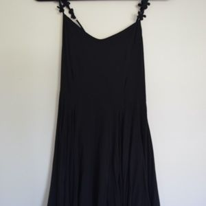 Urban Outfitters Black Dress Flower Straps